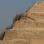 The step pyramid at Saqqara. This is the oldest pyramid, built almost 5000 years ago.
